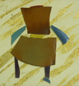 Chair mosaic, gold background by Roy Brown
