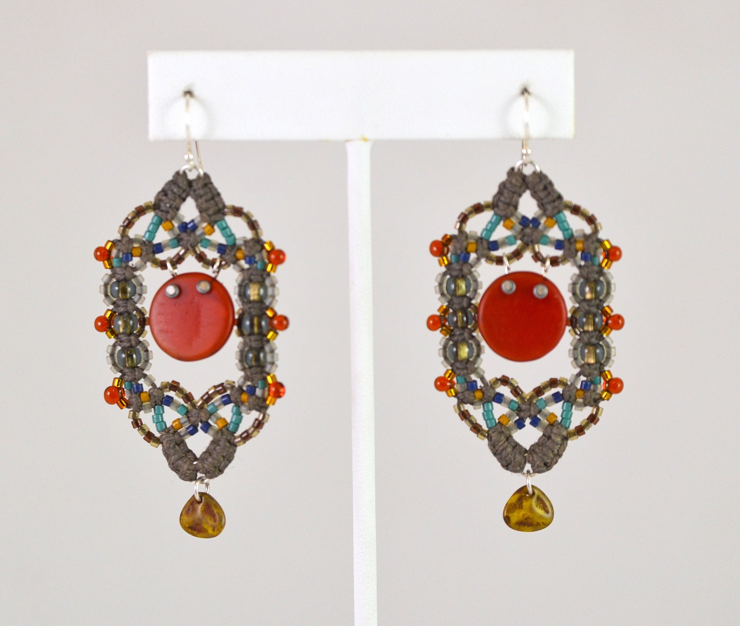 Beaded Earrings (rkhe21) by Renate Kasper