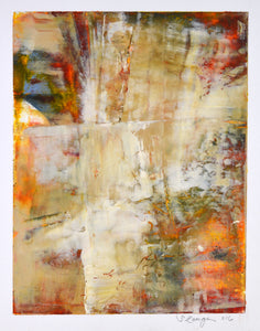 Taos Spring #4 mixed media by Sharon Zeugin