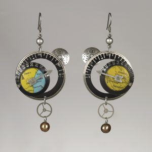 Globes in Circles Earrings by Mullanium