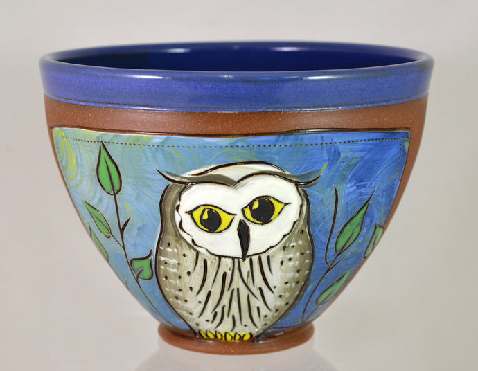 Owl Bowl by Jennifer Stas Pottery