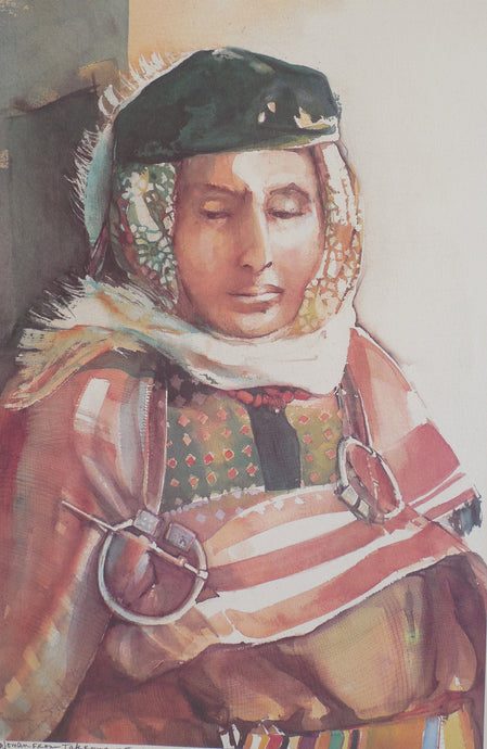 Woman from Takrouna print by Kathleen Stafford