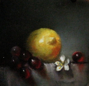 Lemon & Red Grapes by Kelley Goldsmith