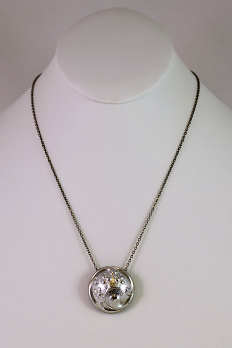 Necklace, NSB,assted in silver,  by Cynthia Bloom