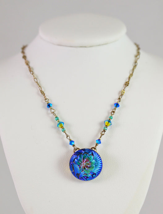 Necklace NSB Anemone Turquoise by Cynthia Bloom