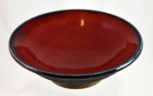 Gray Angle Bowls with Red by Roy Brown