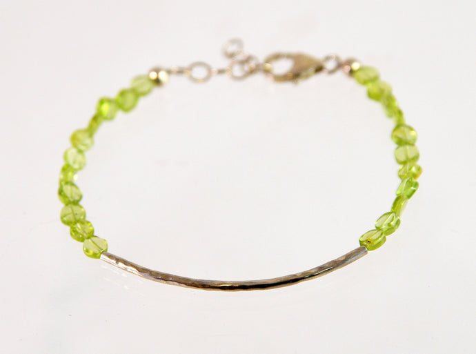 Beaded Bracelet (Peridot and sterling silver) by Christina Chomel