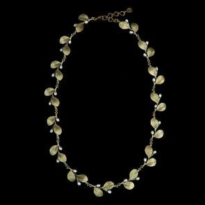 "Irish Thorn 16"", (With Tailored Leaves) Adj. Necklace by Michael Michaud"