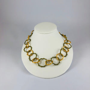 "Bamboo 18"" Contour Necklace by Michael Michaud"