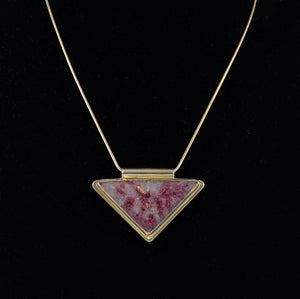 ctc176  Lepidolite and Tourmaline set in Sterling Silver Necklace by Christina Chomel