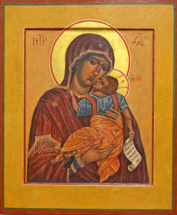 Mother of God Glykophilousa (Tenderness or Sweet Kissing) by Frank Weir