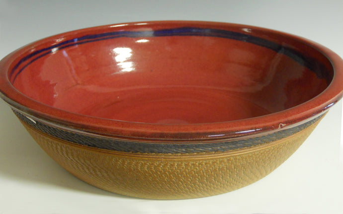 Large red serving bowl (lg) by Roy Brown