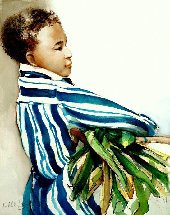 Nubian Boy print by Kathleen Stafford