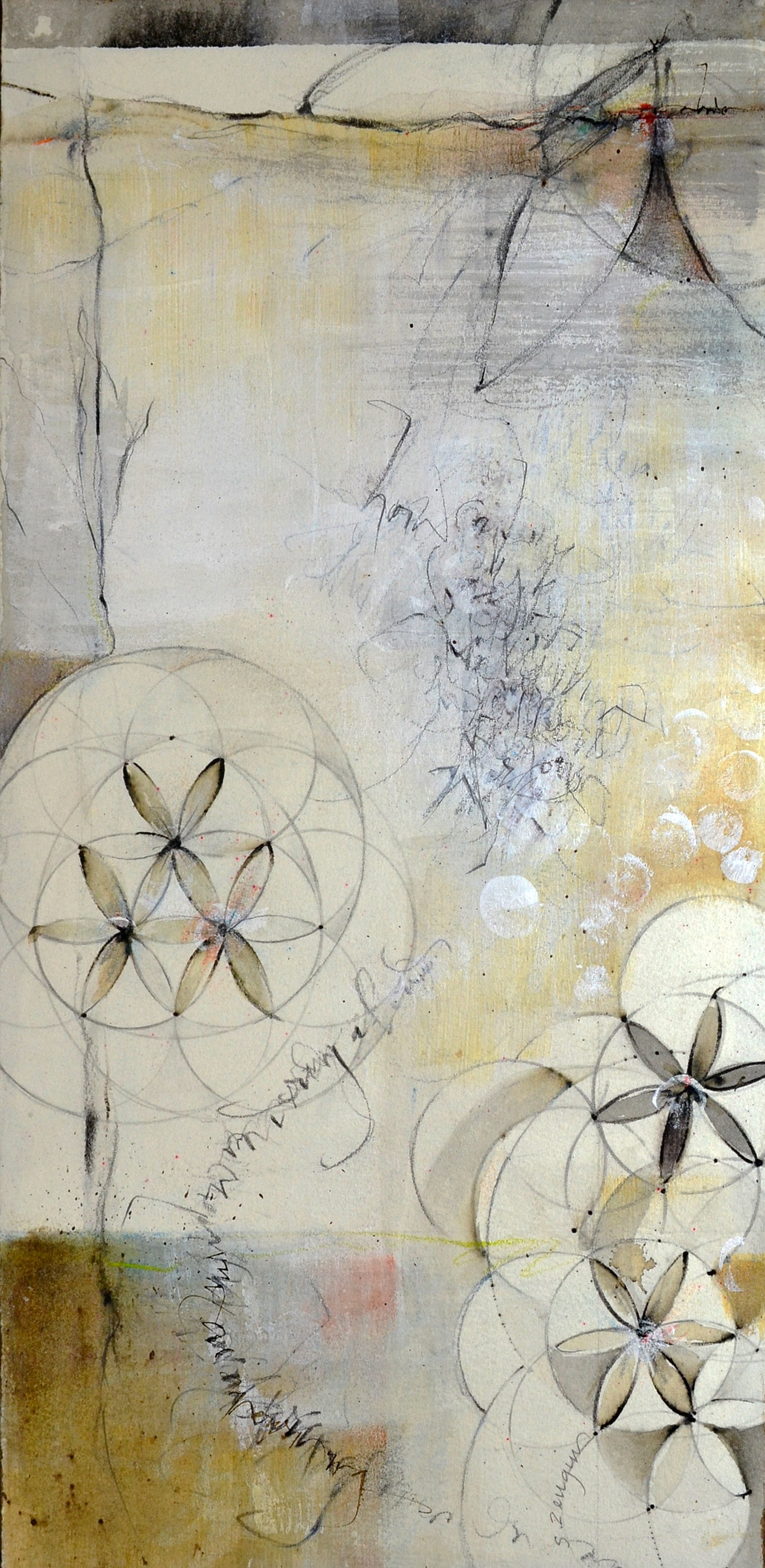 Moon Series A mixed media by Sharon Zeugin