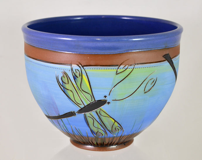 Dragonfly Bowl by Jennifer Stas