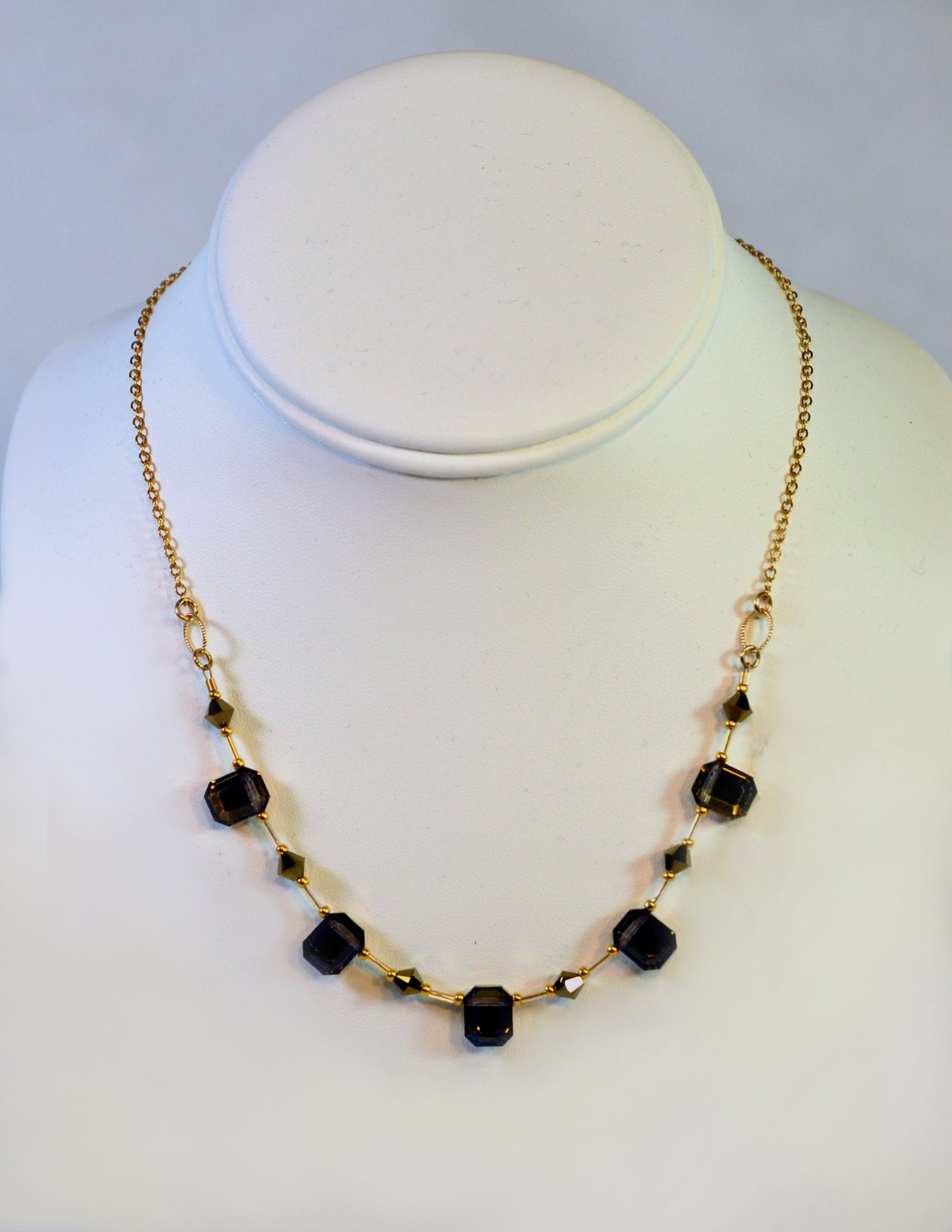 Necklace, NG-EC Medium Gold by Cynthia Bloom