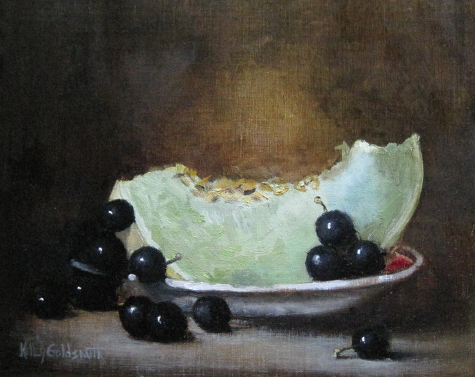 Grapes and Green Melon by Kelley Goldsmith