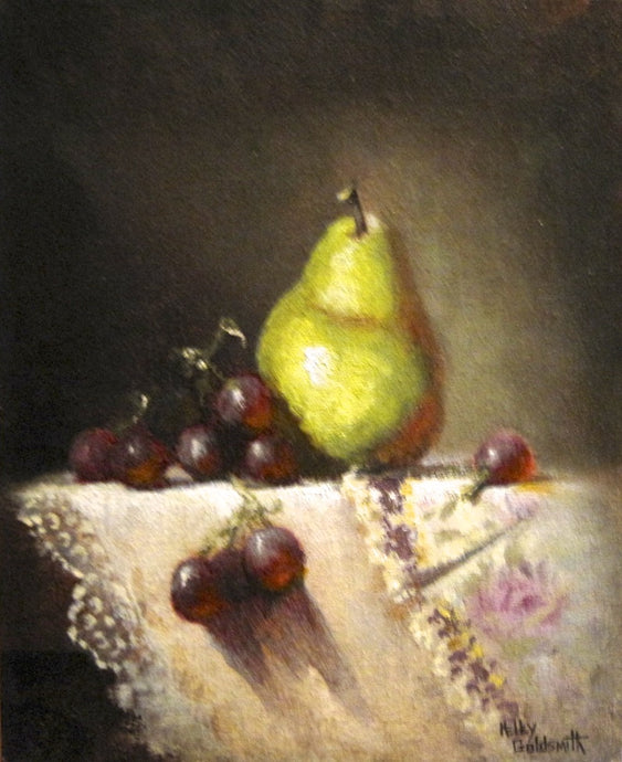 Doilies and Pear by Kelley Goldsmith