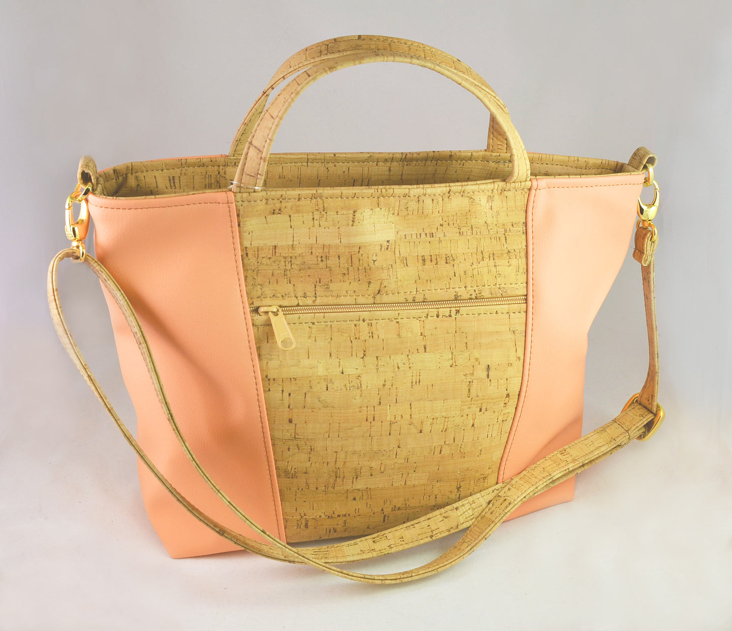 Be Versatile 2 Three Strap Handbag (Peach) by Natalie Therese