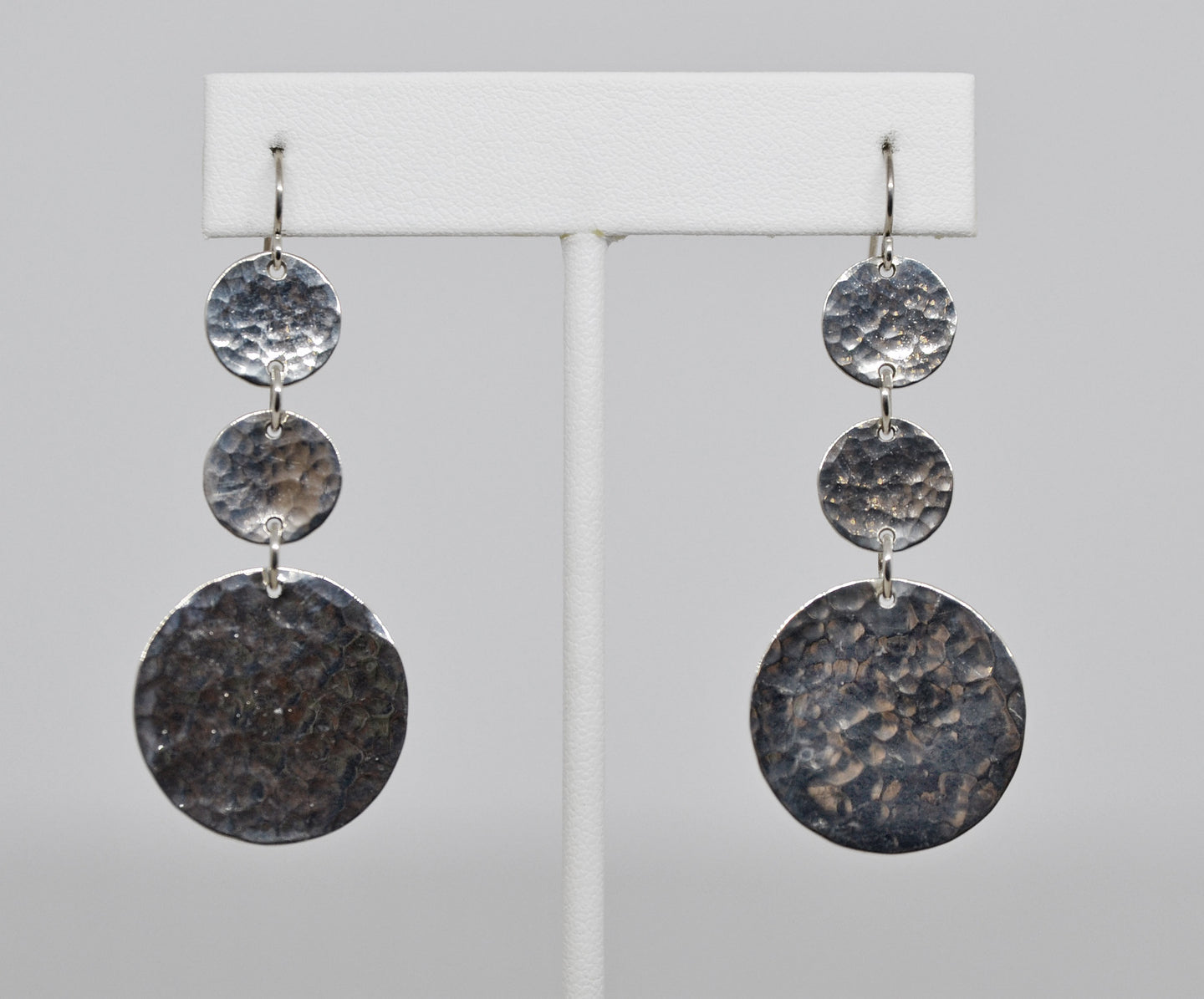 3-Disc Sterling Silver Earrings by Christina Chomel