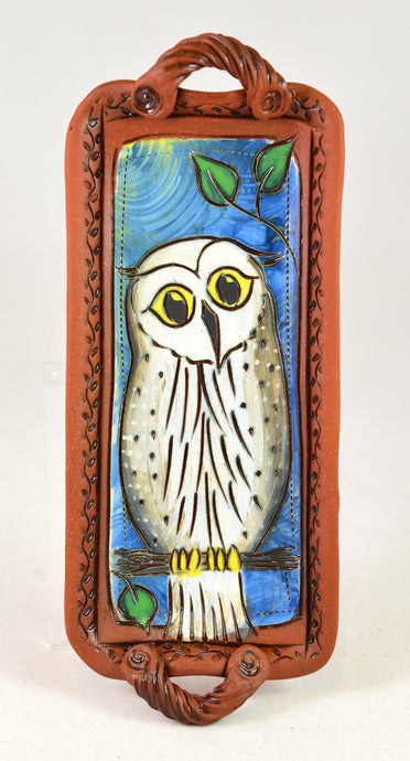 Owl Tray by Jennifer Stas Pottery