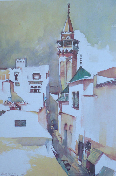 Pasha Mosque print by Kathleen Stafford