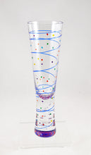 Load image into Gallery viewer, Champagne Glass (line dot/rainbow) by Mindy Sand