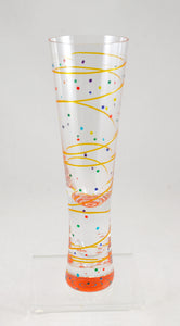 Champagne Glass (line dot/rainbow) by Mindy Sand