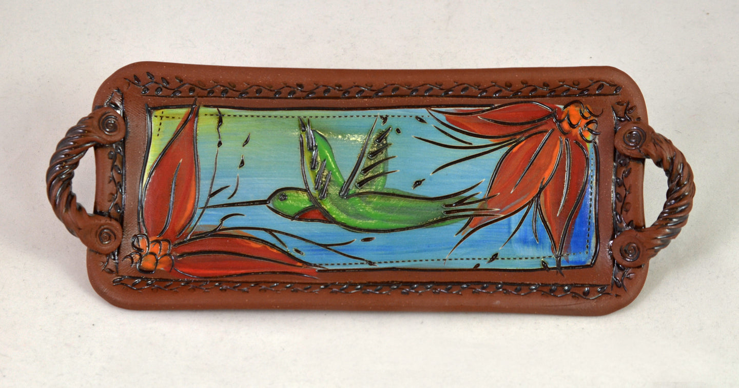 Hummingbird Tray by Jennifer Stas