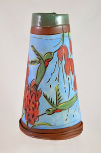 Hummingbird Handbuilt Vase by Jennifer Stas