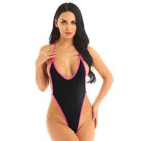 Sheer Monokini G-string Thong High Cut Beachwear