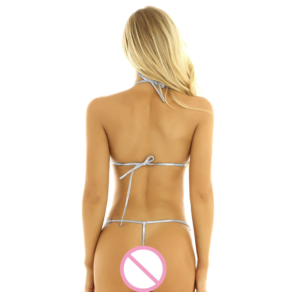 Halter Neck Backless with Adjustable G-string Slingshot