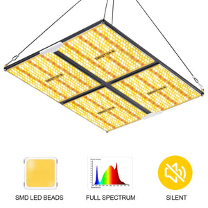 BESTVA CE-4000W Quantum LED Grow Light with SANAN Chips LP2235 & Bestva Driver Sunlight Hybrid Spectrum Growing Lamp for Indoor Plants Veg and Bloom 1240 LEDs - BESTVALED
