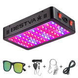 BESTVA 600W Double Chips LED Grow Light Full Spectrum 12 Band Grow Lamp for Greenhouse Hydroponic Indoor Plants Veg and Flower - BESTVALED