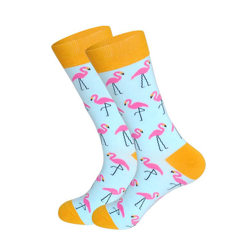 Mens Pink Flamingo Novelty Socks - noveltysocks
