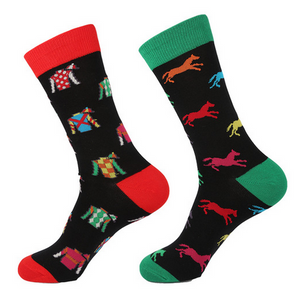 Horse Racing Odd Novelty Socks