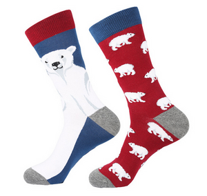 Polar Bear Odd Novelty Socks - Novelty Socks