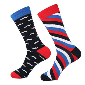 Moustache & Stripes Novelty Socks - Novelty Socks