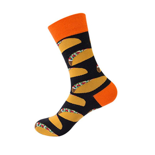 Orange Mexican Taco Novelty Socks - noveltysocks