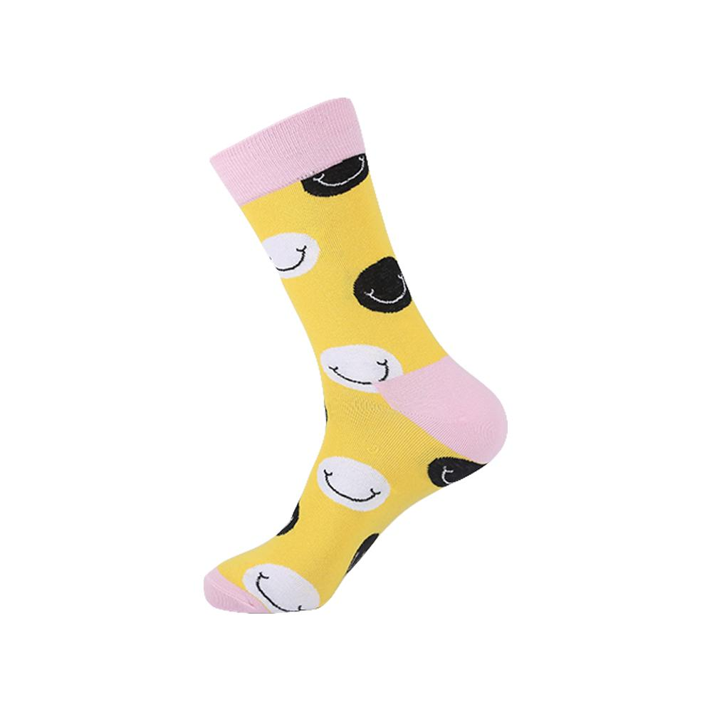 Yellow Smiley Face Novelty Socks - noveltysocks