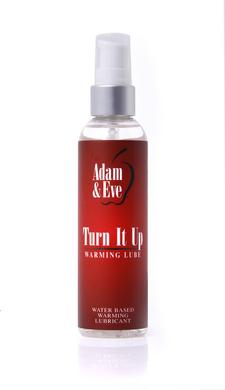 Adam and Eve Turn It Up Warming Lubricant - 4 Oz.