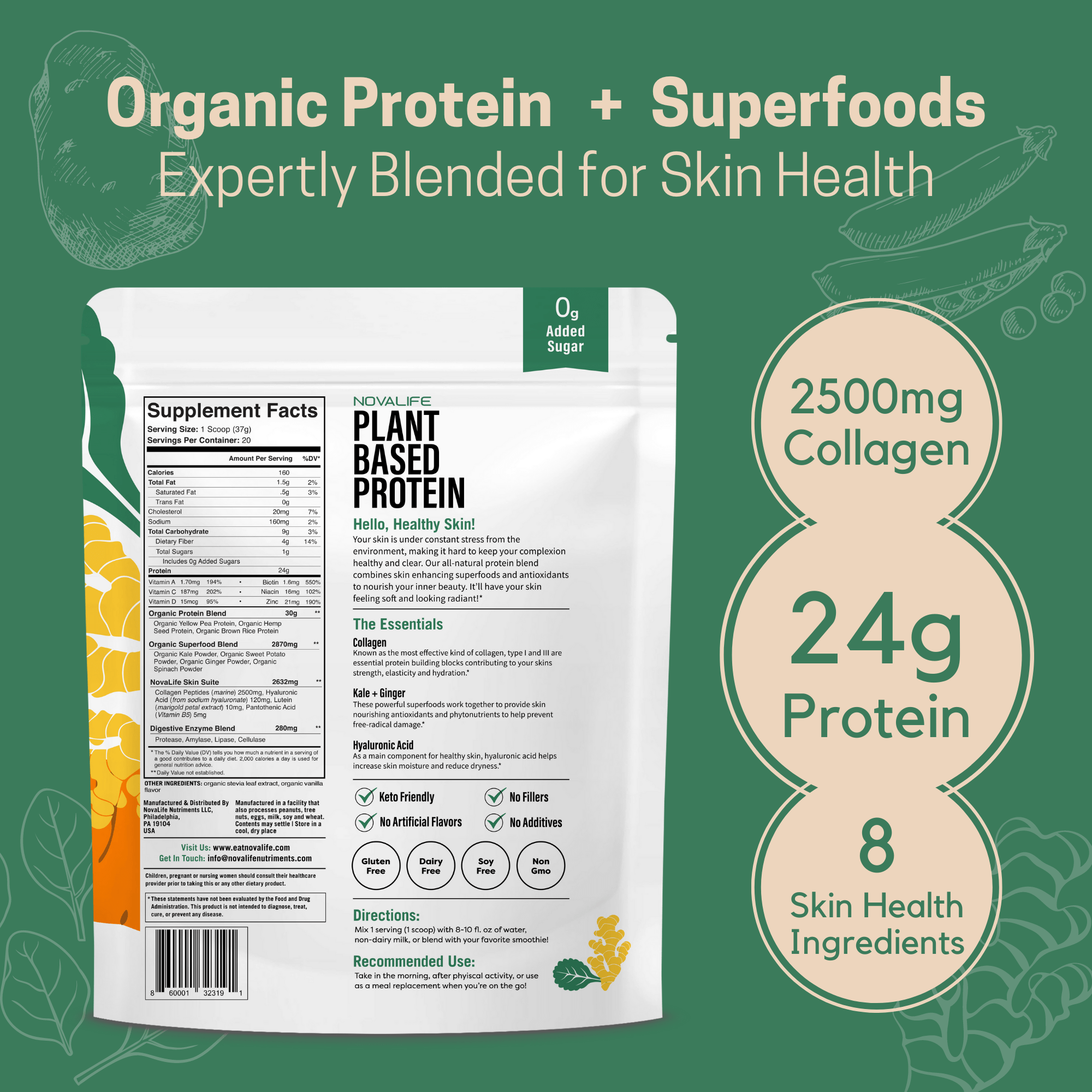 Skin Health Plant Protein Powder