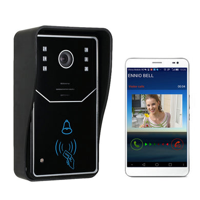 WiFi Video Doorbell Touch Key Wireless Video Door Phone Home Intercom Security System IR RFID Camera Kit