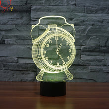 Load image into Gallery viewer, 2017 new clock colorful 3D night light