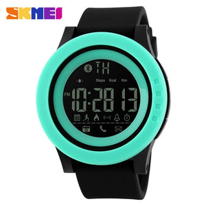 SKMEI 1255 Men Women Bluetooth Smart Watch Calorie Pedometer For Apple IOS Android Hours  50M Waterproof Digital Mens SmartWatch