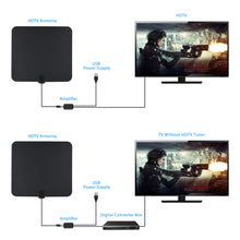 Load image into Gallery viewer, 1080P Digtial HDTV Antenna 50 Miles Range Indoor Flat TV Antenna