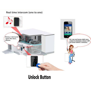WiFi Video Doorbell Touch Key Wireless Video Door Phone Home Intercom Security