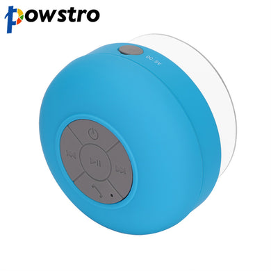 Powstro Bluetooth Speakers Hands Free Phone Waterproof Shower Wireless Portable Mini Cute Car Stereo Bass Sound Speaker