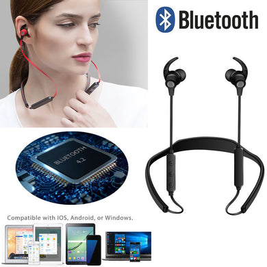 Bluetooth Headphones Wireless Sports Earphones Neckband Headset with Mic