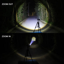 Load image into Gallery viewer, USB Inside Battery Cree XML-T6 Powerful 2000LM Led Flashlight Portable Light Rechargeable Tactical LED Torches Zoom Flashlight